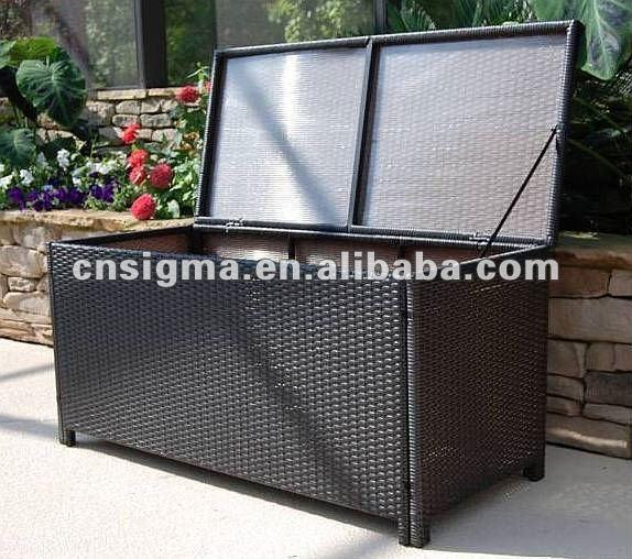 صندوق تخزين كبير من البلاستيك بأغطية يوضع في الهواء الطلق مصنوع من الراتان Buy وسادة مربع البلاستيك صندوق تخزين كبيرة في الهواء الطلق صندوق تخزين Product On Alibaba Com