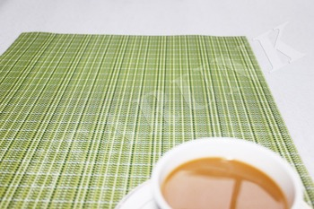 high quality placemat/pvc vinyl cup mats/polyester and vinyl table mat
