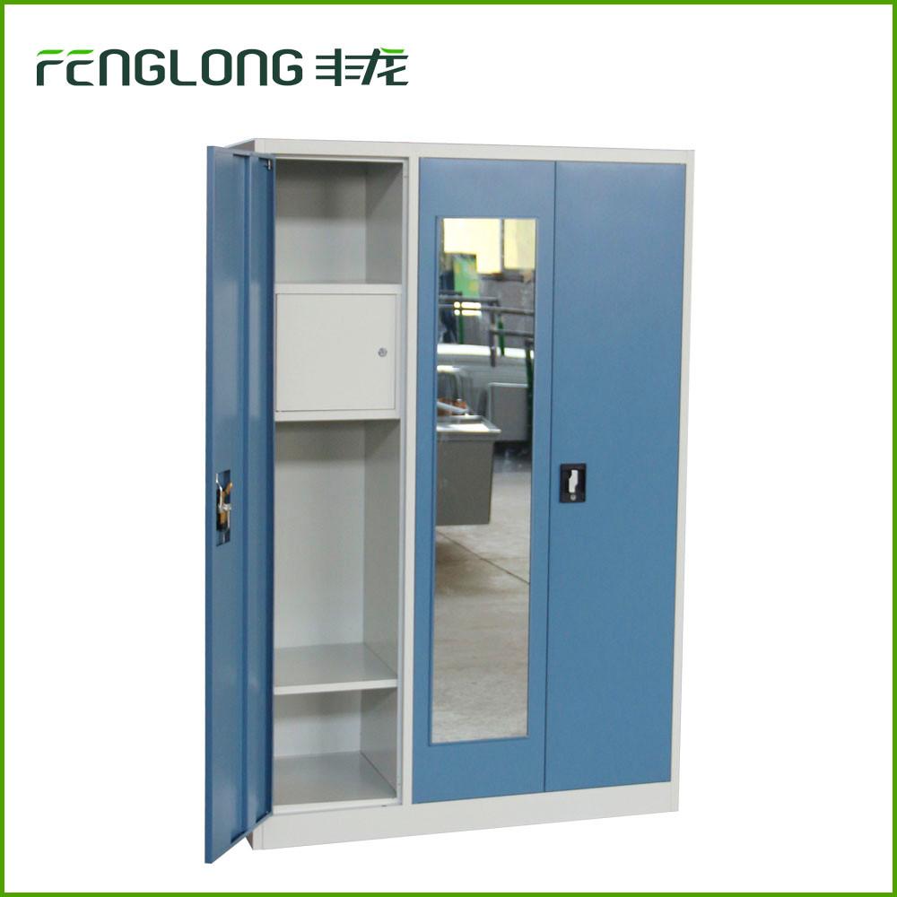 Ikea 3 porte des vêtements métalliques armoires de rangement en métal casier-Meubles de ...