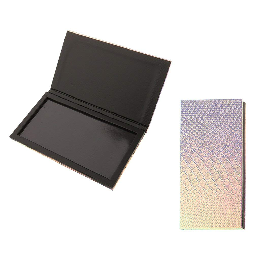 Dovewill 2 Pieces Empty Magnetic Palette Box DIY For Eyeshadow Powder Makeup Large