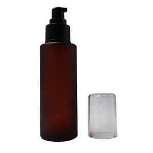 black lotion pump 100ml dark amber hair essential oil glass bottle higher quality