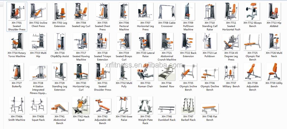 Pectoral machine chest press gym equipment names buy