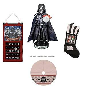 Star Wars Christmas Package - Darth Vader Nutcracker, Darth Vader Countdown Calendar, Darth Vader Tree Skirt, Darth Vader Stocking