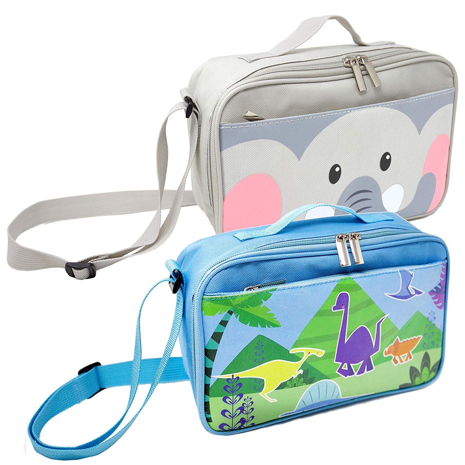 d4dd4a4aa048 Get Quotations · 2 Pack Lunch Bags for Kids and Toddlers