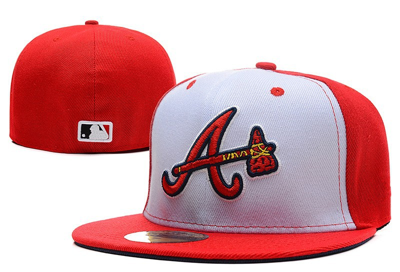 d1d04a78f40 Buy One Pcs new style Atlanta Braves red and white color baseball fitted  hats sport flat brim all closed caps bone with size in Cheap Price on  m.alibaba.com