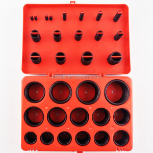 High quality clear silicone rubber teflon plastic o-ring kit box