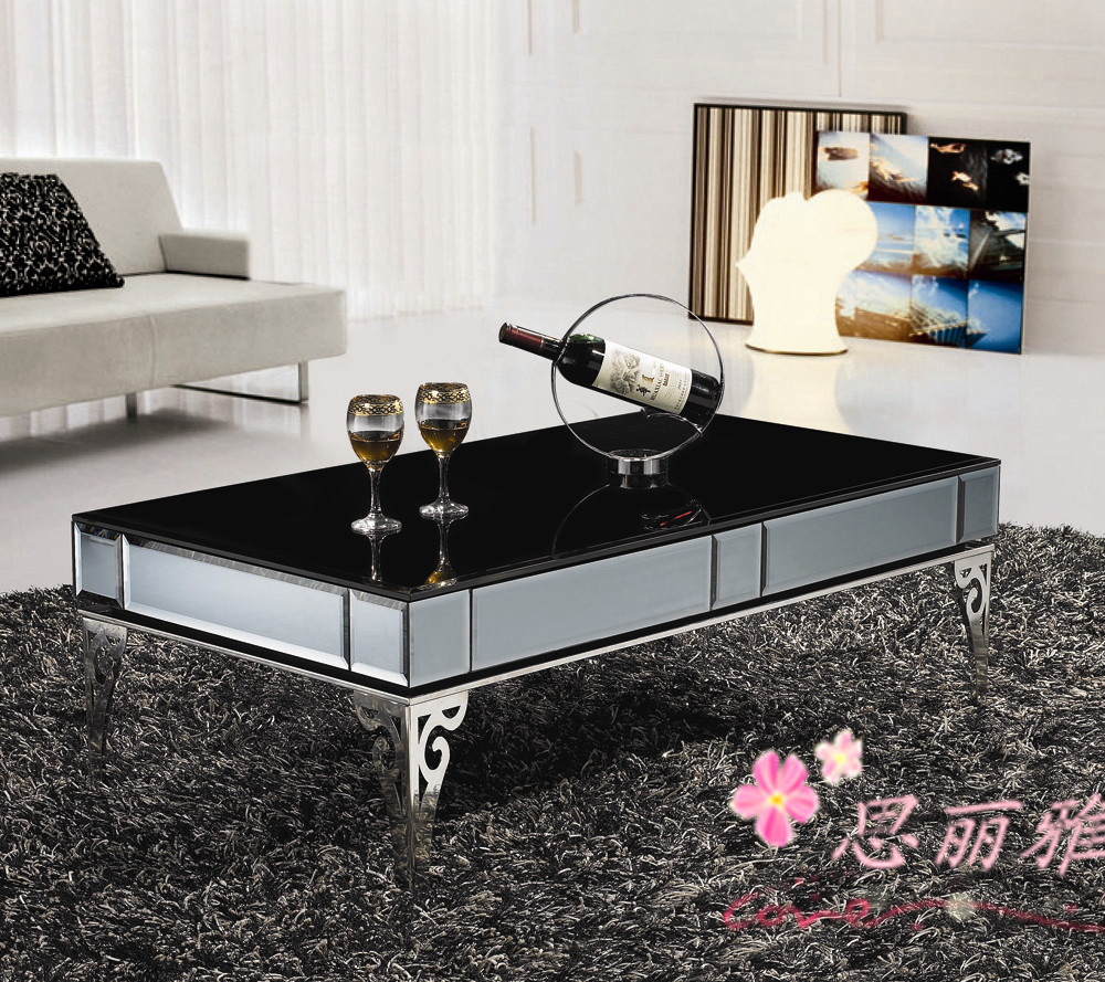 metal coffee table coffee table for living room black glass coffee table in glass tables from. Black Bedroom Furniture Sets. Home Design Ideas