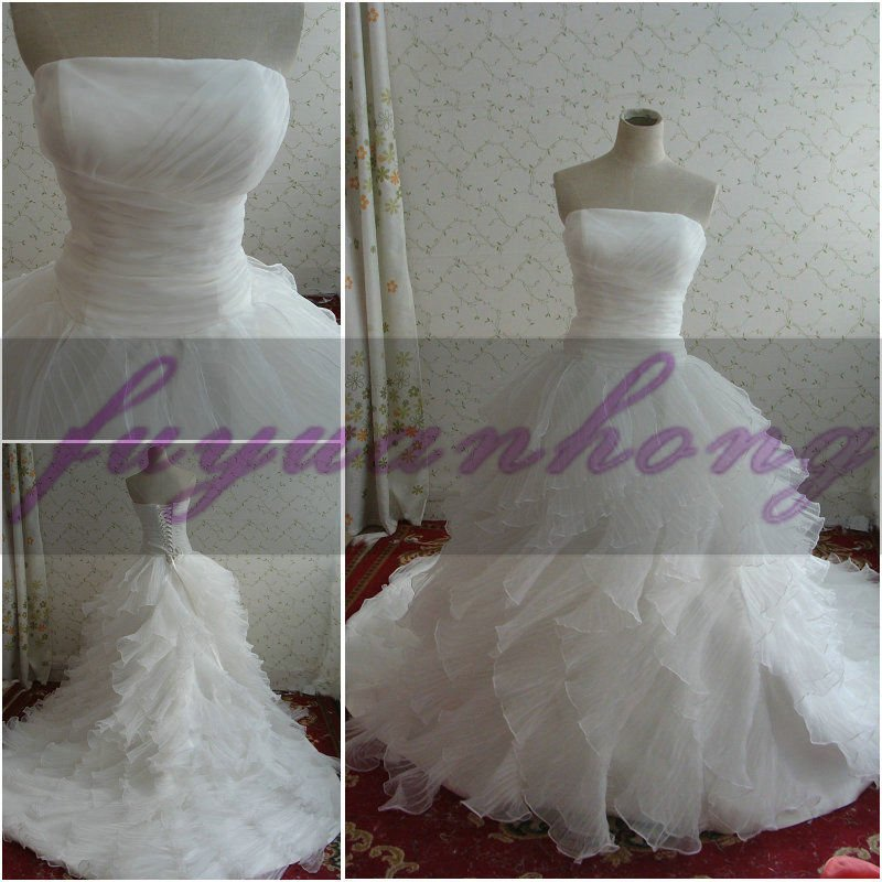 2011 100% as same picture wedding gown advance /FYH-RD2117
