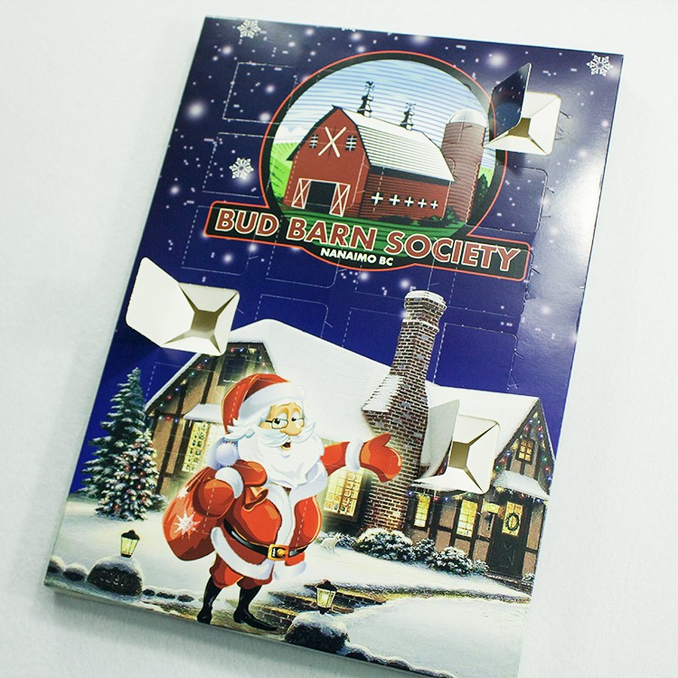 Custom paper cardboard pet advent calendar packaging box and gift boxes with plastic tray
