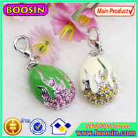 New Arrival Colorful Rhinestones Russia Faberge Eggs Charm,Enamel Easter Egg Charm Pendants, Charm Jewelry #17308