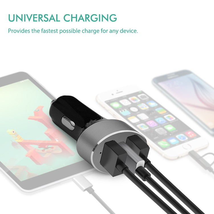 Quick charge 3.0 type c three port car charger ,qc 3.0 car charger
