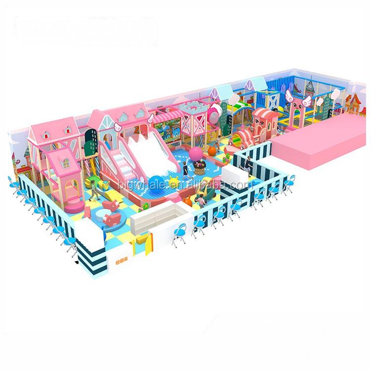 Goedkope custom design indoor kinderen zachte speeltuin voor kinderen school in deur play gym