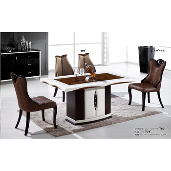 Latest Marble 4 Seater Dining Table Designs