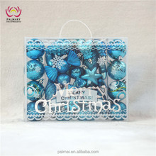 LA70 best selling Christmas products, handicraft Christmas ornaments laser cut, lake blue make Christmas ornaments
