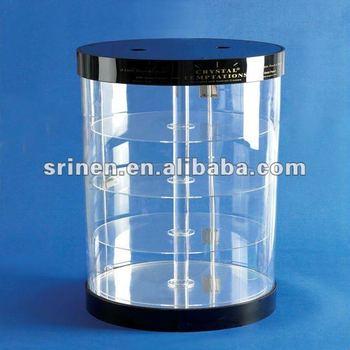 round shape acrylic display case plexiglass display case