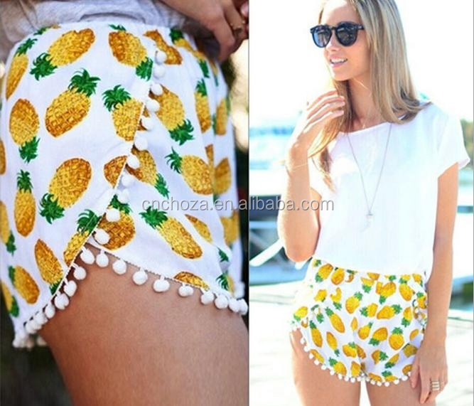 Z51008B fashion new style lady printed shorts women floral shorts
