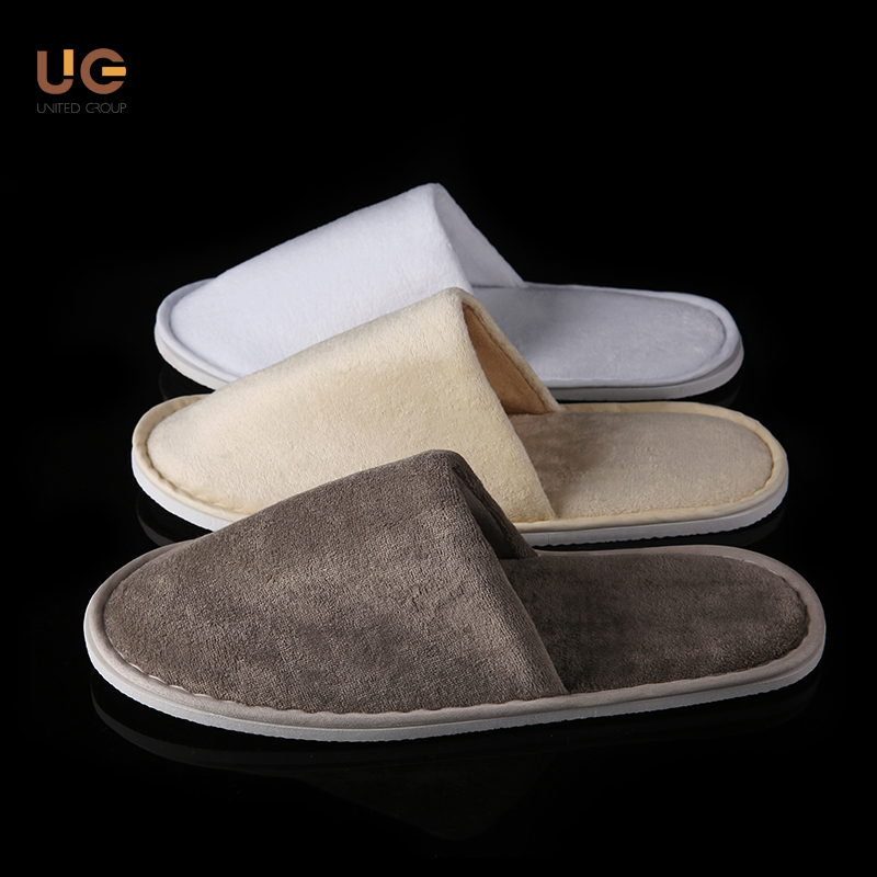 multi-color options Slipper style Velvet Cotton disposable hotel slipper
