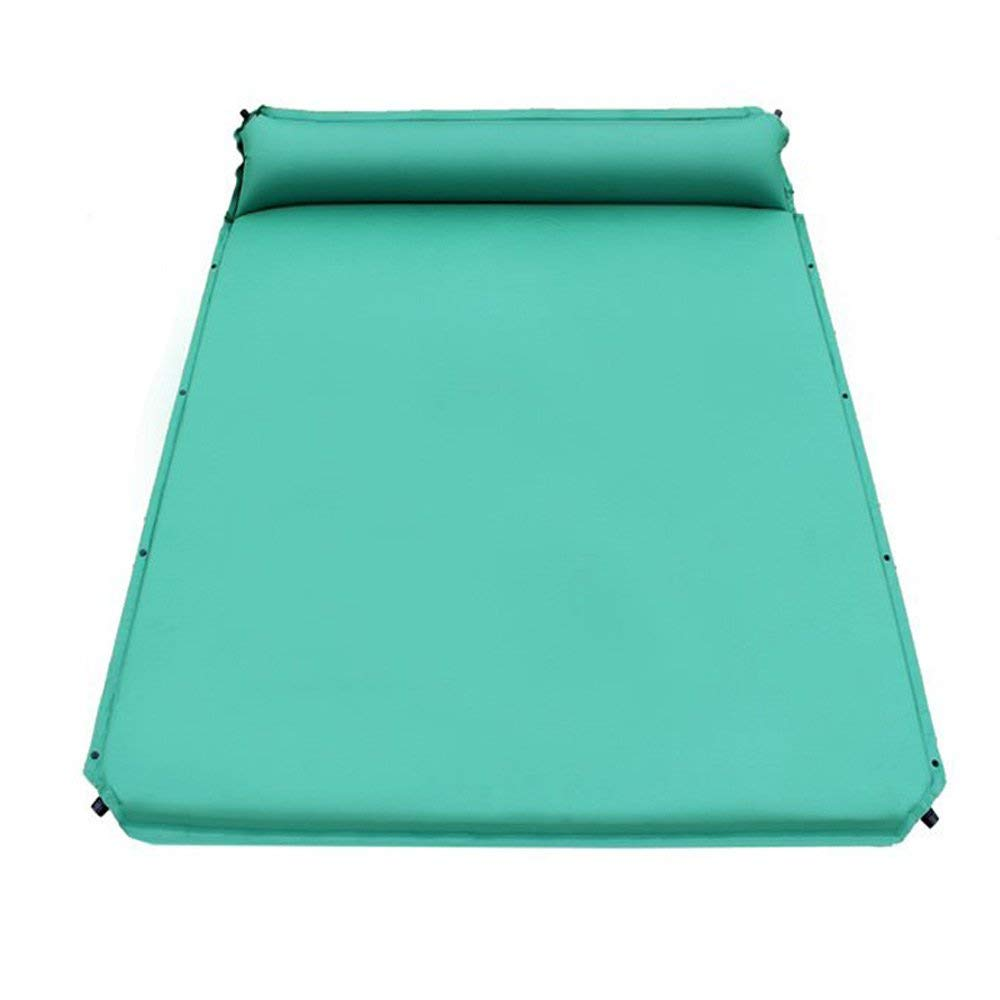 XY&CF Double Automatic Inflatable Sleeping Mat Camping Sleeping Mat With Attached Pillows, Comfortable 2 People Outdoor, Hiking, Backpack, Beach 190160cm
