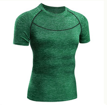 organic led apparel branded collar compression men t-shirts custom sportswear mixed color t shirt