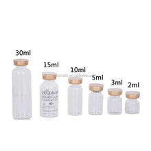 10ml clear/amber glass silicon rubber stopper vial glass PVC stopper bottle 2ml 3ml 15ml 30ml