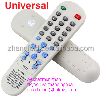 High Quality Gray 28 Keys 50J2 Universal Remote Control 57P4 25 IN 1 Universal Controller