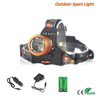 Camping 1600Lm XM-L T6 LED Zoomable Headlamp Over Head Torch Light RJ-2800