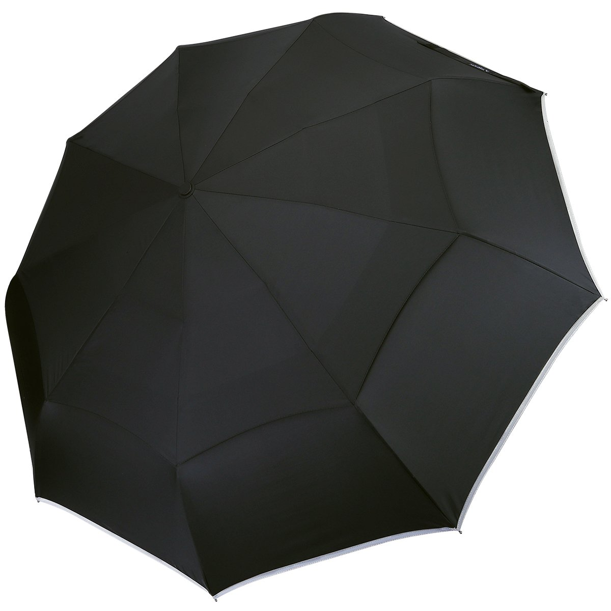 Chinese Supplier 3 Folding 9 Ribs Fully Automatic Double Canopy Outdoor Compact Umbrella