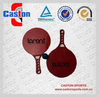Cheap and high quality 100% plastic red color beach racket