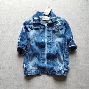 Kids denim jacket baby tassel children clothes girl denim coat fashon boutiques kids clothes wholesale bulk baby outfit