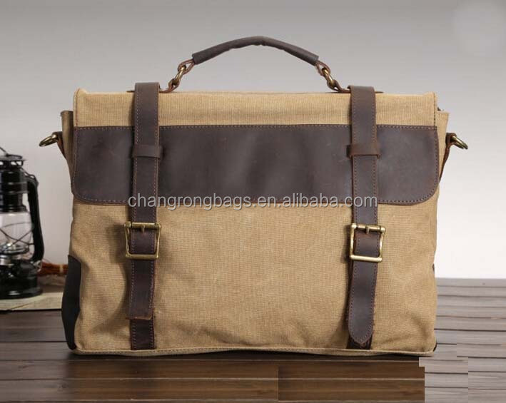 Handmade Leather Messenger Bags Waxed Cotton Canvas Messenger Bag ...