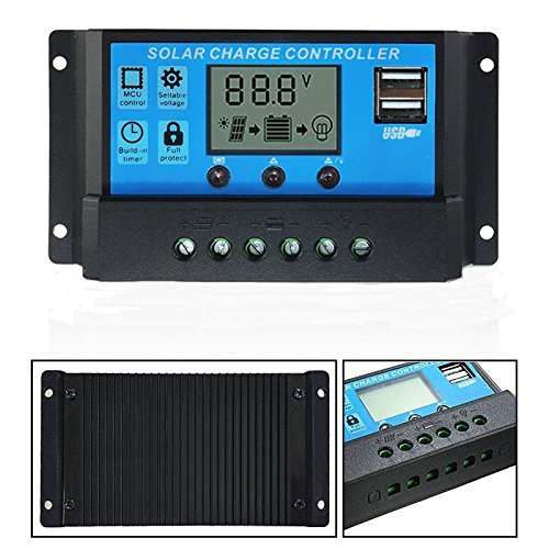 10/20/30A USB Solar Panel Battery Regulator Charge Intelligent Controller 12/24V (30A)