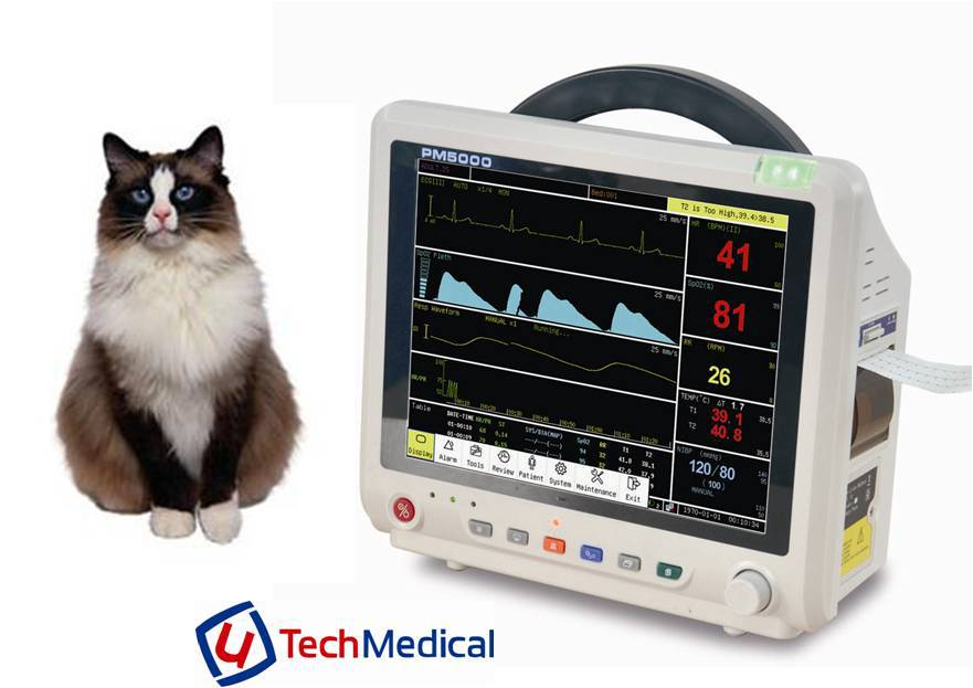 12.1 inch LCD Veterinary Patient Monitor for Horse/Cat/Dog from China