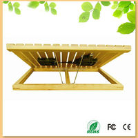 bamboo cooler pad for laptop with fan