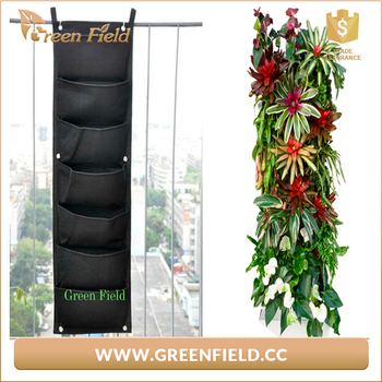 7 Pockets Vertical Garden Felt Hanging Wall Planter