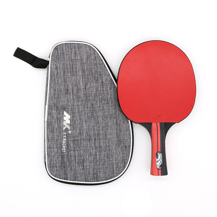 Small MOQ Customized Star Ping Pong Paddle 7 Layers Wood With Carbon Training Table Tennis Racket with Cartying Bag In Stock