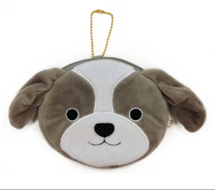 Plush Dog Shaped Cute Animal Girl Coin Purse