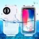 Top Quality Hot Selling PULUZ for iPhone X / XS 40m/130ft Waterproof Diving Housing Photo Video Taking Underwater Cover Case