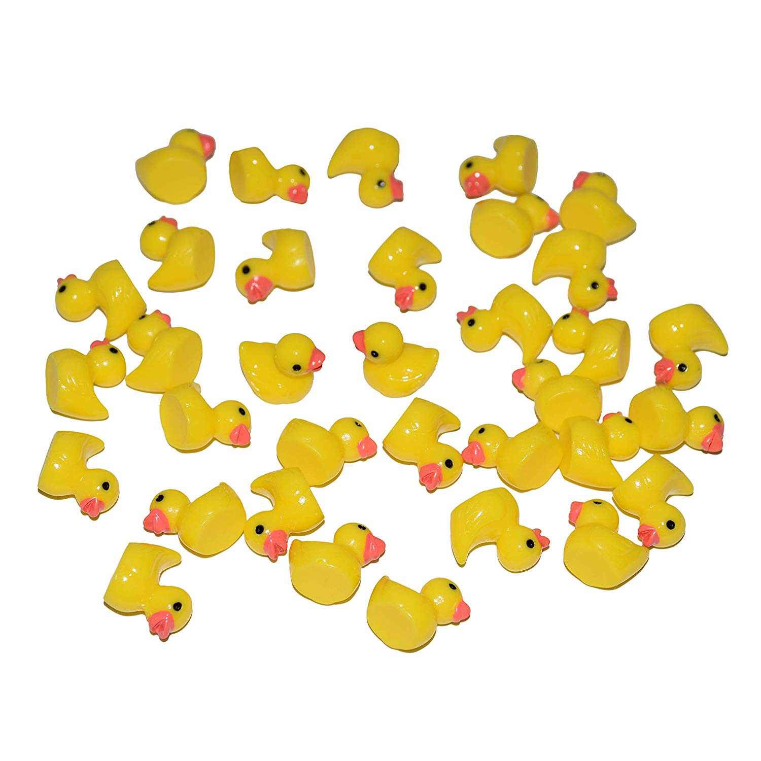 AMOBESTER Slime Charms Ducks 50Psc Slime Beads for Slime Decoration