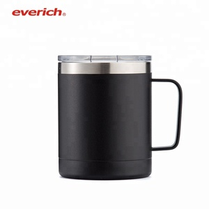 Everich 10 oz Double Wall Stainless Steel Vacuum Insulated Travel Mug With Handle