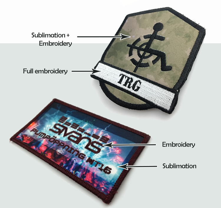 Custom sublimation printed patches fashional vivid image printed patches