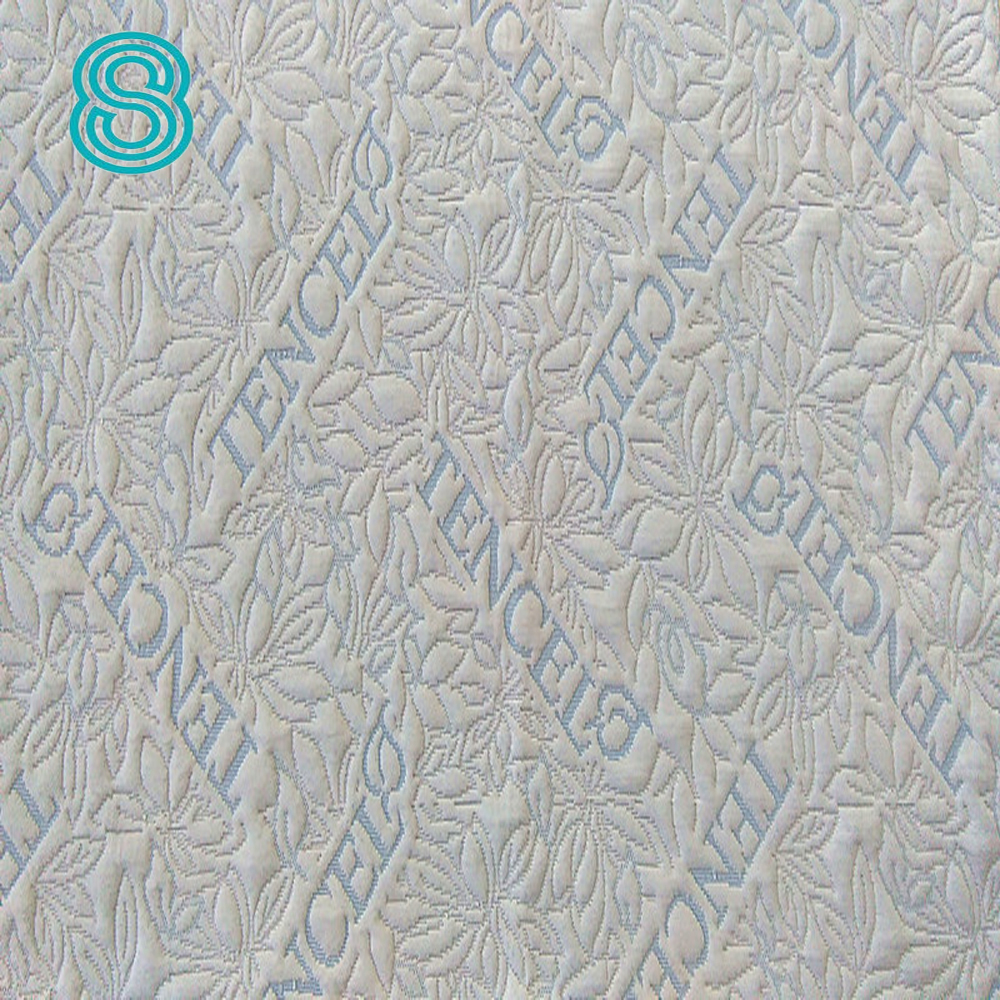 Hangzhou factory made to order knitted tencel for latex mattress mattress fabric
