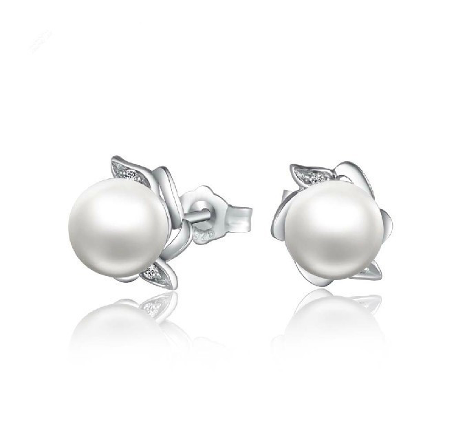 White Gold Pearl Earrings Stud Ideas