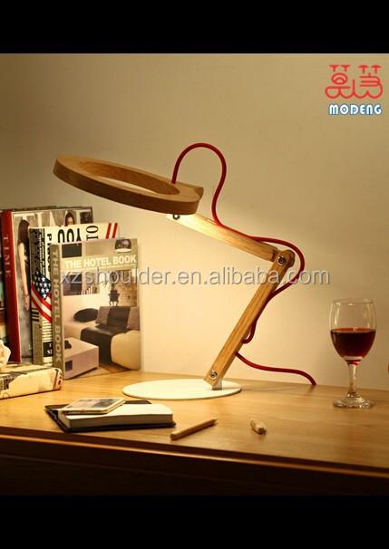 Modeng Creative Led Flexible Reading Light Unique Handmade Wooden ...
