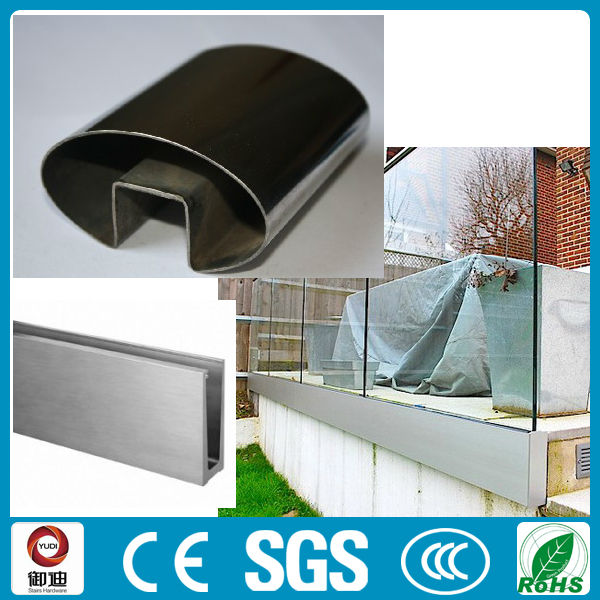 U canal de aluminio barandilla de balc n barandilla - Barandilla de aluminio ...