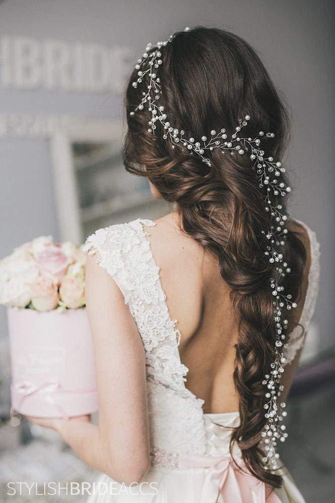 Wedding Lush Long Pearl Hair Vine 0.4-1.5 meter, Bridal Pearl Hair Vine, Wedding Pearl Hair Accessories, Wedding Hair Vine, Bridal Hairpiece