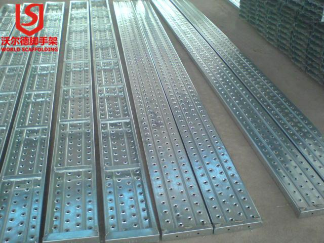 Construction durable galvanized anti-slip factory price Ringlock scaffold steel plank/walk board/catwalk with forged hook