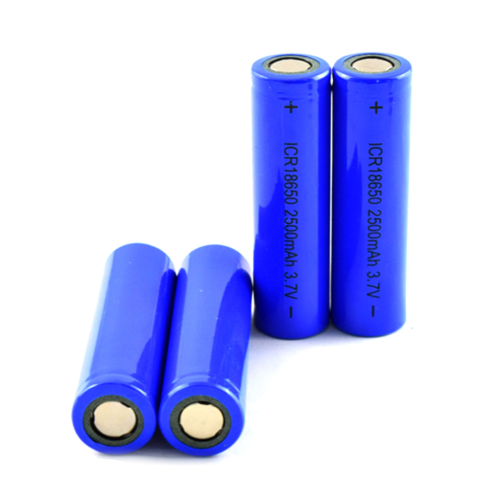 Top quality  3.7V 2500mah rechargeable li-ion battery ICR 18650 battery for pipe vape