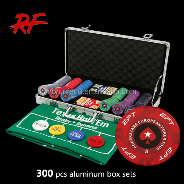 300 stks casino poker chip set/premium poker chip set/deluxe poker chip game set