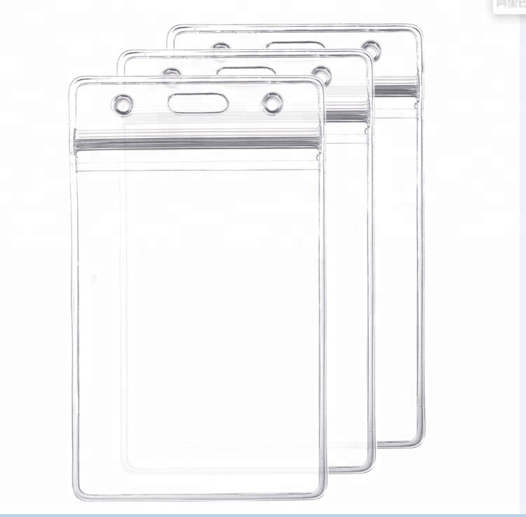New products durable soft transparent plastic credit /id card holder