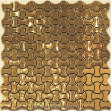 Fish scale mosaic tile metal wall decor wholesale mosaic tiles